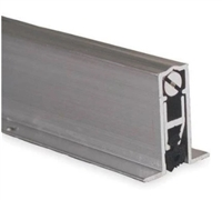 "Pemko 411Arl36, Full Mortised Auto Door Bottom, Mill Finish Aluminum With Black Sponge Epdm Insert, 36"" Long"