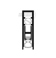 "Pemko 4131Cpkl36, Surface And Semi Mortised Auto Door Bottom, Clear Aluminum, Black Pemkoprene Insert, 36"" Long"