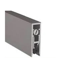 "Pemko 4131Drl36, Surface And Semi Mortised Auto Door Bottom, Dark Bronze Aluminum, Black Sponge Epdm Insert, 36"" Long"