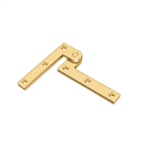 "Deltana Ph35Cr003 - 3 7/8"" X 5/8"" X 1 5/8"" Hinge - Pvd Polished Brass Finish (Pack Of 2)"
