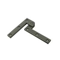 "Deltana Ph35U15A - 3 7/8"" X 5/8"" X 1 5/8"" Hinge - Antique Nickel Finish (Pack Of 2)"