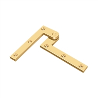 "Deltana Ph40Cr003 - 4 3/8"" X 5/8"" X 1 7/8"" Hinge - 	Pvd Polished Brass Finish (Pack Of 2)"