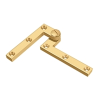 "Deltana Ph60Cr003 - 4 3/8"" X 5/8"" X 1 7/8"" Hinge - Pvd Polished Brass Finish (Pack Of 2)"