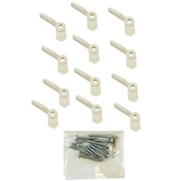 Prime Line Pl 7920 - Turn Button, W/Screws, White Nylon, 12/Pkg