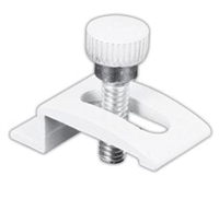 "Prime Line Pl 7940 - Storm Door Panel Clips, 1/4"", W/Screws, White, 8/Pkg"