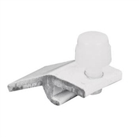 "Prime Line Pl 7948 - Storm Door Panel Clips, 5/16"", W/Screws, White, 8/Pkg"