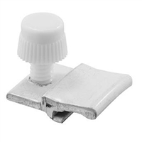 "Prime Line Pl 7960 - Storm Door Panel Clips, 3/16"", W/Screws, White, 8/Pkg"
