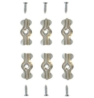 Prime Line Pl 7967 - Screen Clips, Flush, W/Screws, Aluminum, 6/Pkg