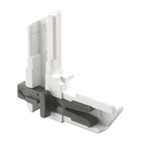 Prime Line Pl 8096 - Screen Frame Corner, Slide Lock, White Plastic
