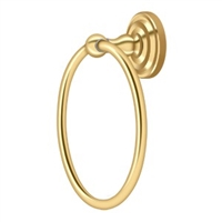 Deltana R2008-Cr003 - Towel Ring , R-Series - Pvd Polished Brass Finish