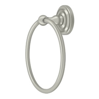 Deltana R2008-U15 - Towel Ring , R-Series - Brushed Nickel Finish