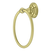 Deltana R2008-U3 - Towel Ring, R-Series - Polished Brass Finish