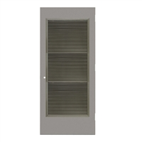 "REP1813-3068-VLV2464 - 3'-0"" x 6'-8"" Republic Hinge Commercial Hollow Metal Steel Door with 24"" x 64"" Inverted Y Blade Louver Kit, 161 Cylindrical Lock Prep, 18 Gauge, Polystyrene Core"
