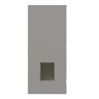 "REP1824-3068-VLV1218 - 3'-0"" x 6'-8"" Republic Hinge Commercial Hollow Metal Steel Door with 12"" x 18"" Inverted Y Blade Louver Kit, Blank Edge with Reinforcement, 18 Gauge, Polystyrene Core"