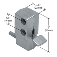 Prime Line S 4023 - Sliding Door Lock, Step-On, Aluminum Finish