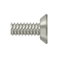 "Deltana Scms1205U15 - Machine Screw, Steel, #12 X 1/2"" - Brushed Nickel Finish"