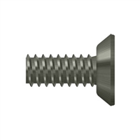 "Deltana Scms1205U15A - Machine Screw, Steel, #12 X 1/2"" - Antique Nickel Finish"