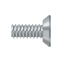 "Deltana Scms1205U26D - Machine Screw, Steel, #12 X 1/2"" - Brushed Chrome Finish"