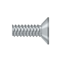 "Deltana Scms905U26D - Machine Screw, Steel, #9 X 1/2"" - Brushed Chrome Finish"