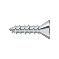 "Deltana Scws1075U26 - Wood Screw, Steel, #10 X 3/4"" - Polished Chrome Finish"