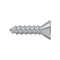 "Deltana Scws1075U26D - Wood Screw, Steel, #10 X 3/4"" - Brushed Chrome Finish"