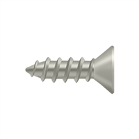 "Deltana Scws1275U15 - Wood Screw, Steel, #12 X 3/4"" - Brushed Nickel Finish"