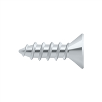 "Deltana Scws1275U26 - Wood Screw, Steel, #12 X 3/4"" - Polished Chrome Finish"