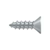 "Deltana Scw1275U26D - Wood Screw, Steel, #12 X 3/4"" - Brushed Chrome Finish"
