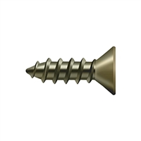 "Deltana Scws1275U5 - Wood Screw, Steel, #12 X 3/4"" - Antique Brass Finish"