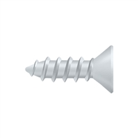 "Deltana Scws1275Uspw - Wood Screw, Steel, #12 X 3/4"" - Prime Coat White Finish"