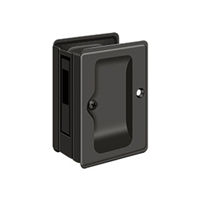 "Deltana Sdar325U10B - Hd Pocket Lock, Adjustable, 3 1/4""X 2 1/4"" Sliding Door Receiver - Oil-Rubbed Bronze Finish"
