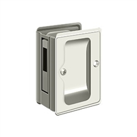 "Deltana Sdar325U14 - Hd Pocket Lock, Adjustable, 3 1/4""X 2 1/4"" Sliding Door Receiver - Polished Nickel Finish"