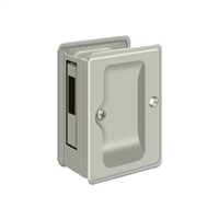 "Deltana Sdar325U15 - Hd Pocket Lock, Adjustable, 3 1/4""X 2 1/4"" Sliding Door Receiver - Brushed Nickel Finish"