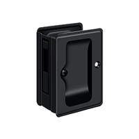 "Deltana Sdar325U19 - Hd Pocket Lock, Adjustable, 3 1/4""X 2 1/4"" Sliding Door Receiver - Paint Black Finish"