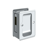 "Deltana Sdar325U26 - Hd Pocket Lock, Adjustable, 3 1/4""X 2 1/4"" Sliding Door Receiver - Polished Chrome Finish"