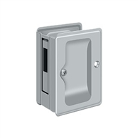 "Deltana Sdar325U26D - Hd Pocket Lock, Adjustable, 3 1/4""X 2 1/4"" Sliding Door Receiver - Brushed Chrome Finish"
