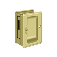 "Deltana Sdar325U3 - Hd Pocket Lock, Adjustable, 3 1/4""X 2 1/4"" Sliding Door Receiver - Polished Brass Finish"