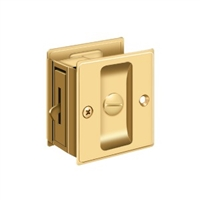 "Deltana Sdl25Cr003 - Pocket Lock, 2 1/2""X 2 3/4"" Privacy - Pvd Polished Brass Finish"
