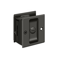 "Deltana Sdl25U10B - Pocket Lock, 2 1/2""X 2 3/4"" Privacy - Oil-Rubbed Bronze Finish"