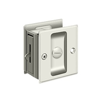 "Deltana Sdl25U14 - Pocket Lock, 2 1/2""X 2 3/4"" Privacy - Polished Nickel Finish"