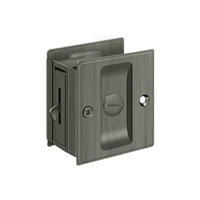"Deltana Sdl25U15A - Pocket Lock, 2 1/2""X 2 3/4"" Privacy - Antique Nickel Finish"