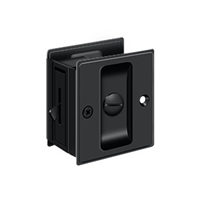 "Deltana Sdl25U19 - Pocket Lock, 2 1/2""X 2 3/4"" Privacy - Paint Black Finish"
