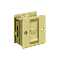 "Deltana Sdl25U3 - Pocket Lock, 2 1/2""X 2 3/4"" Privacy - Polished Brass Finish"