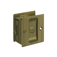 "Deltana Sld25U5 - Pocket Lock, 2 1/2""X 2 3/4"" Privacy - Antique Brass Finish"