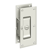 "Deltana Sdl60U14 - Decorative Pocket Lock 6"", Privacy - Polished Nickel Finish"