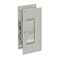 "Deltana Sdl60U15 - Decorative Pocket Lock 6"", Privacy - Brushed Nickel Finish"