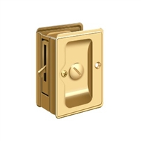 "Deltana SDLA325CR003 - Hd Pocket Lock, Adjustable, 3 1/4""X 2 1/4"" Privacy - PVD Polished Brass Finish"