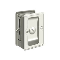 "Deltana SDLA325U14 - Hd Pocket Lock, Adjustable, 3 1/4""X 2 1/4"" Privacy - Polished Nickel Finish"