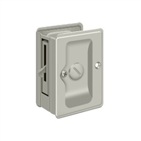 "Deltana SDLA325U15 - Hd Pocket Lock, Adjustable, 3 1/4""X 2 1/4"" Privacy - Brushed Nickel Finish"