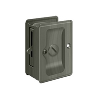 "Deltana SDLA325U15A - Hd Pocket Lock, Adjustable, 3 1/4""X 2 1/4"" Privacy - Antique Nickel Finish"